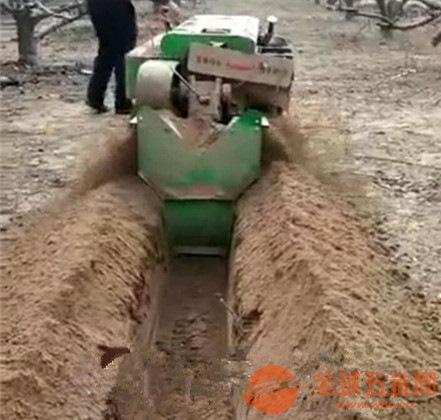郊區隻果園開溝施肥多功能一體機出廠價
