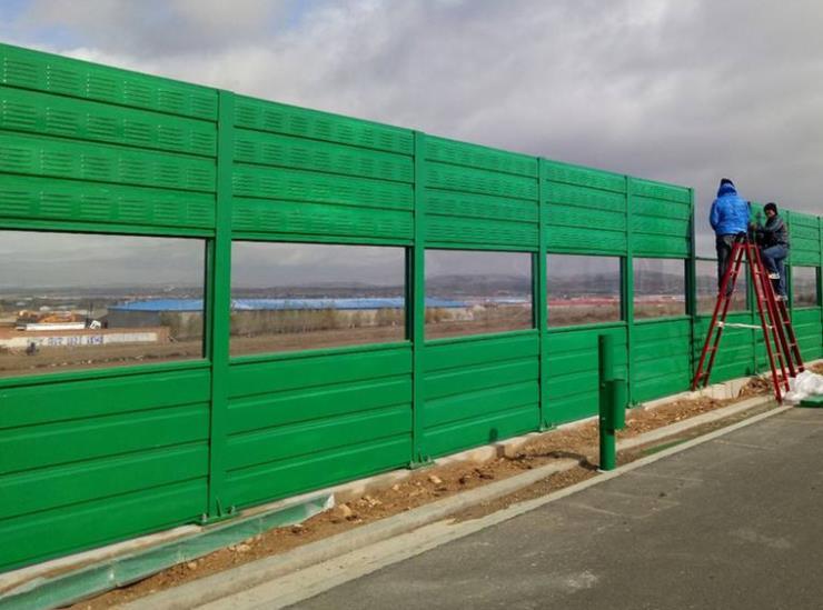 四川成都金属 镀锌板 绿色朝巨声屏障生产厂家