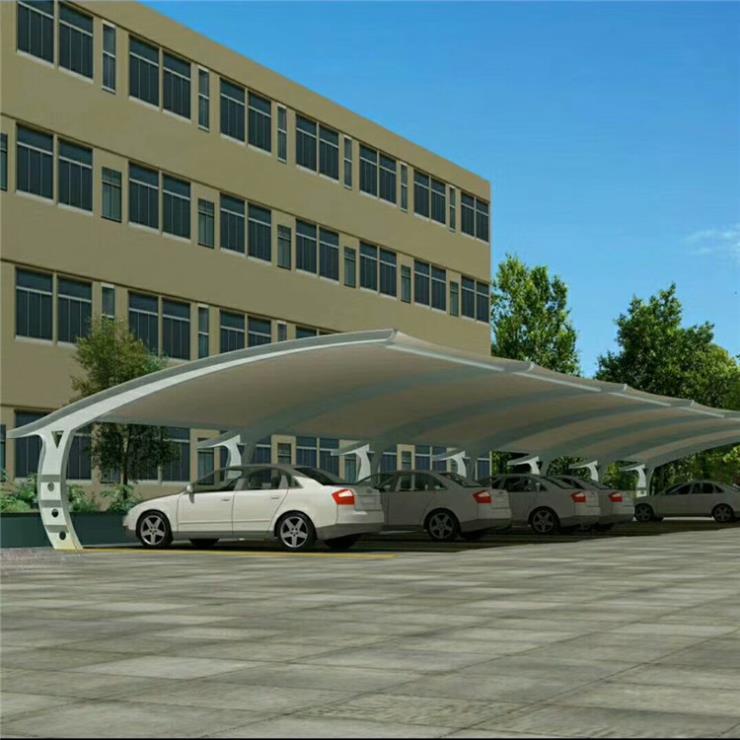 河北区膜结构停车棚别墅经济性膜结构停车棚多少钱安装