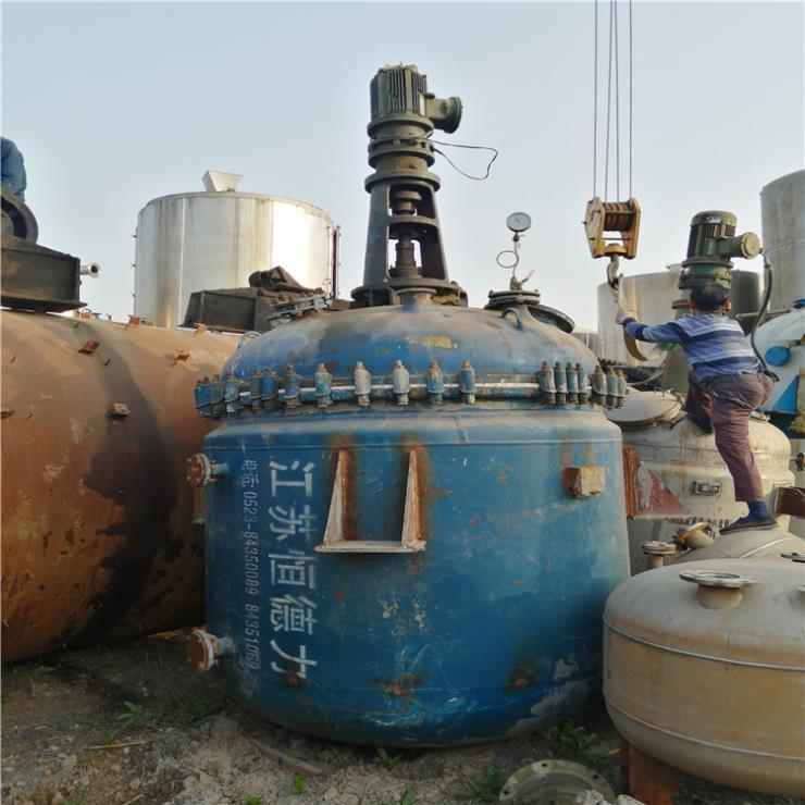 全国回收全自动不锈钢反应釜 开式搪玻璃反应釜设备
