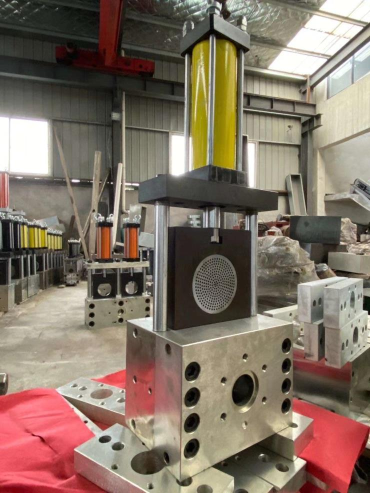廠家造粒擠出機液壓不停機換網模頭