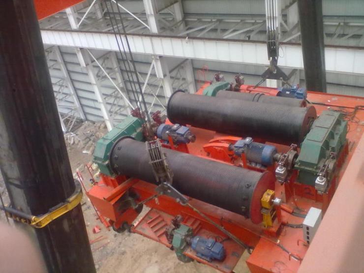 礦山用160噸16.5米橋式起重機