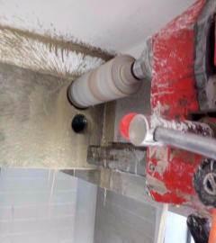 太原南中环专业打孔钻孔水泥墙打孔、楼板打孔 油烟机打
