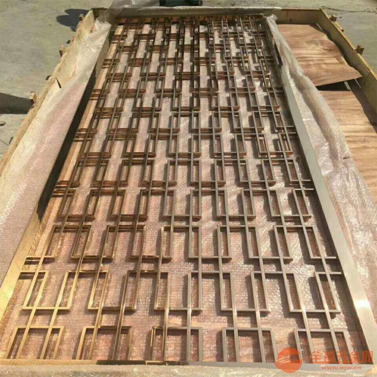 不锈钢高档大气屏风隔断大量生产 欢迎订购