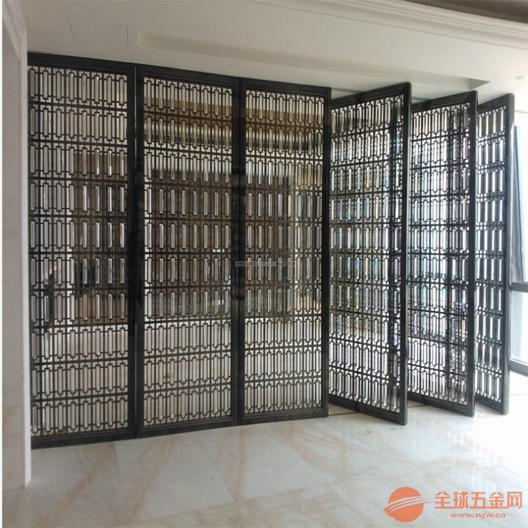 厂家直销生产不锈钢金属制品 屏风隔断安装效果图
