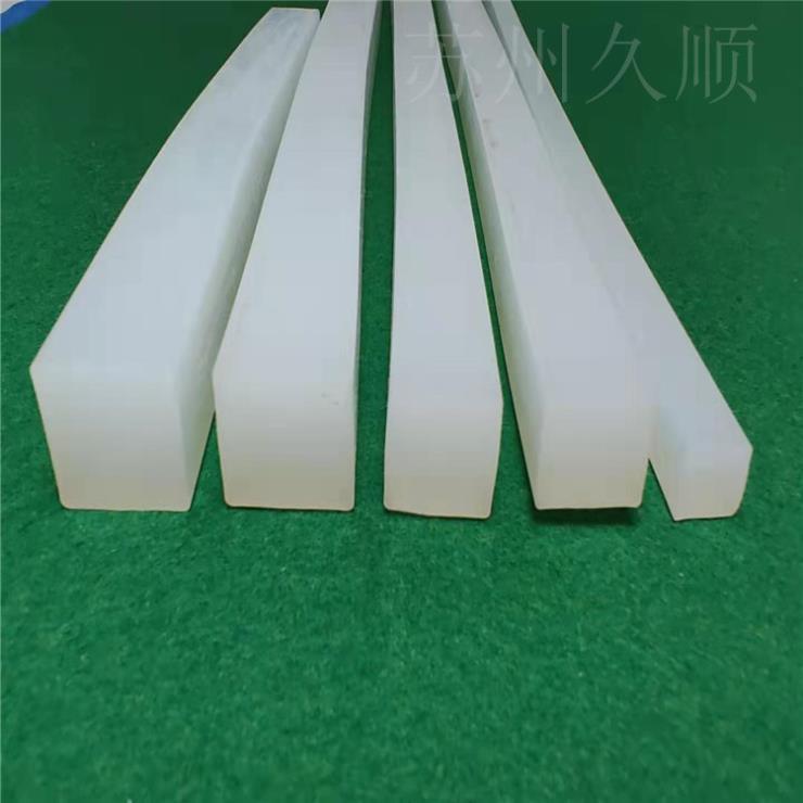 白色硅膠方形實心防水耐磨損防塵耐高溫密封條