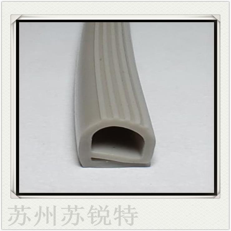 灰色硅胶E型密实密封条