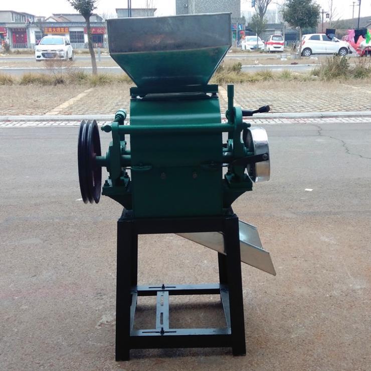 黄豆制扁机 易熟化豆子压扁机 乾宇机械麦仁挤扁机