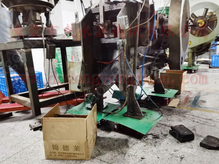 绣花机防振垫,剪板机充气式减震器 找东永源
