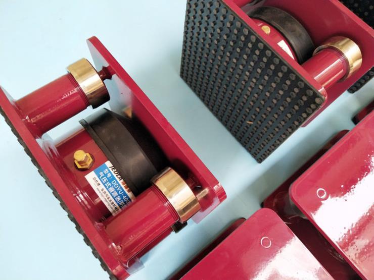 保定楼上机器降噪声脚垫,隔楼上CNC震动胶垫 气压式