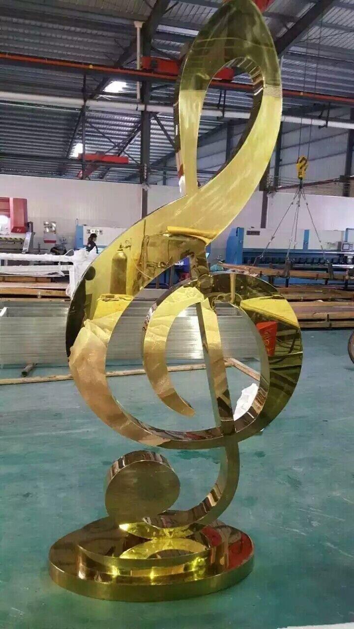 不锈钢钛金拉丝雕塑定制厂家直销