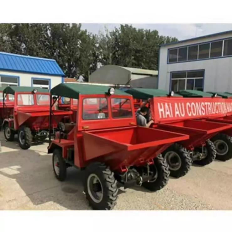 四轮前卸式翻斗车生产厂家 柴油自卸式翻斗车报价