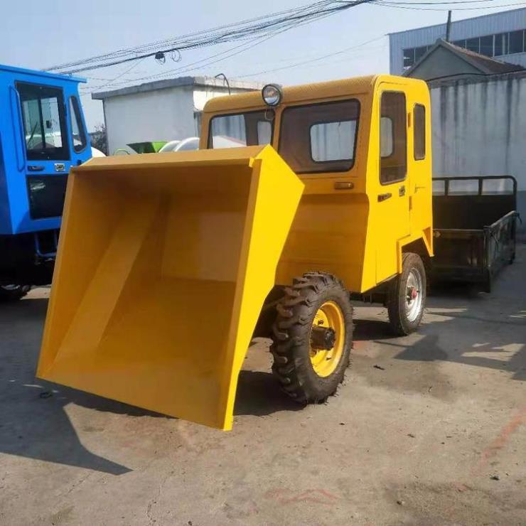 社区垃圾清理铲斗车 铭途载重1吨小翻斗车 全封闭驾驶