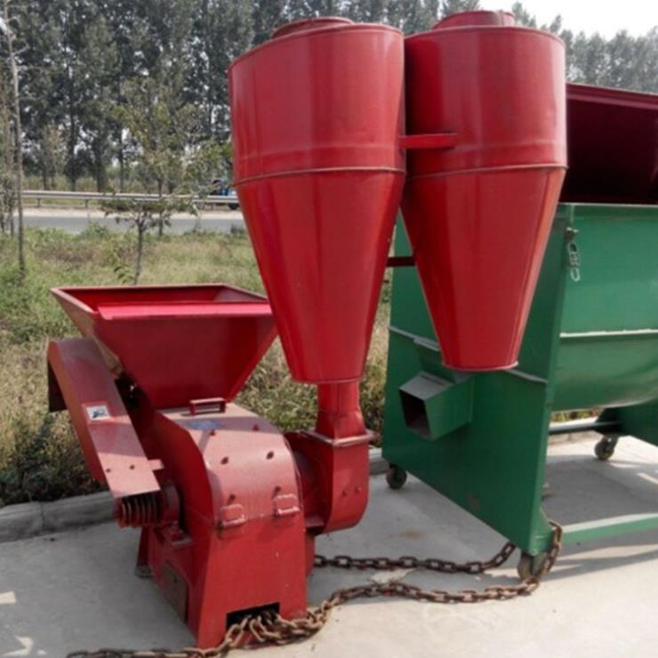 安徽六安自动进料饲料粉碎机 铭途牛羊饲料加工碎草机厂