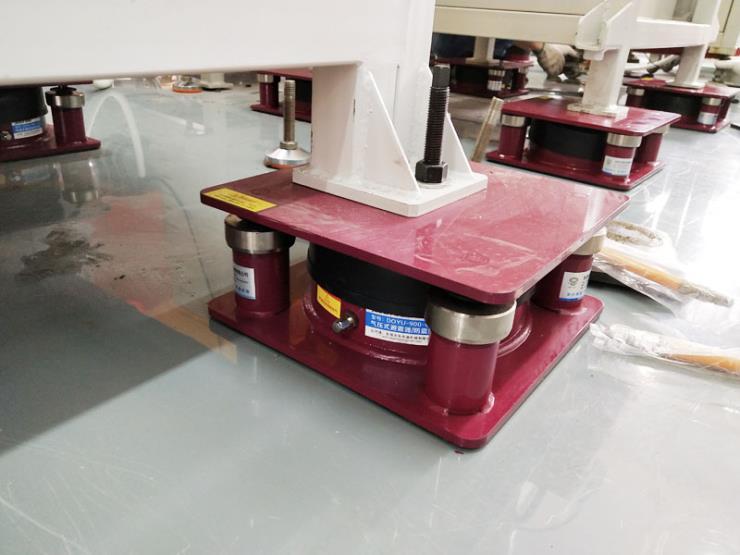 楼上吸塑机减震器,压痕机搬上楼的减振垫 气压式避震器