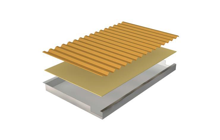 艾克普瓦楞吊顶板复合板铝合金瓦楞吊顶板瓦楞吊顶板厂家