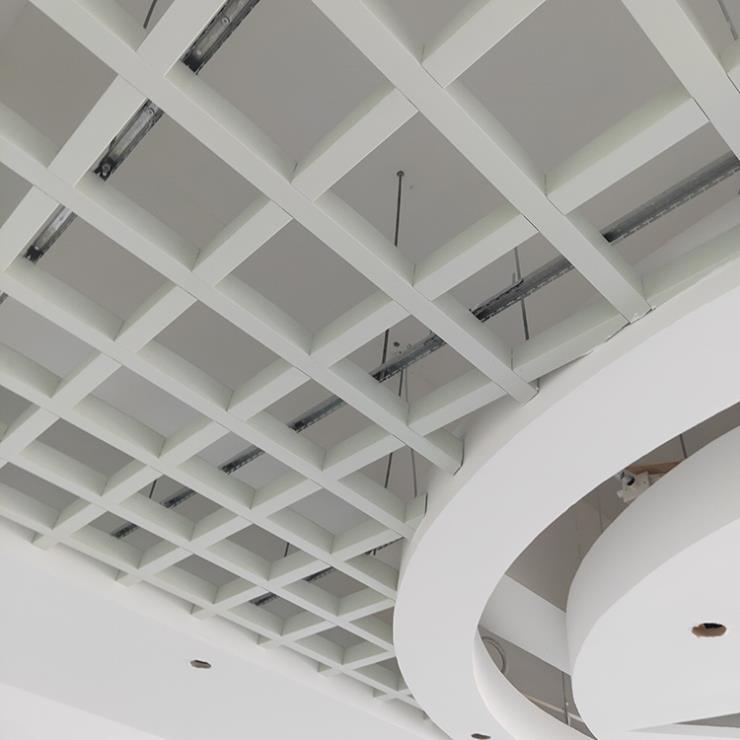 白色铝格栅 U形铝格栅 300x300格栅天花