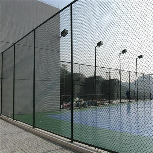 新华区达创体育网球场定制颜色运动场地相邻围网间隔