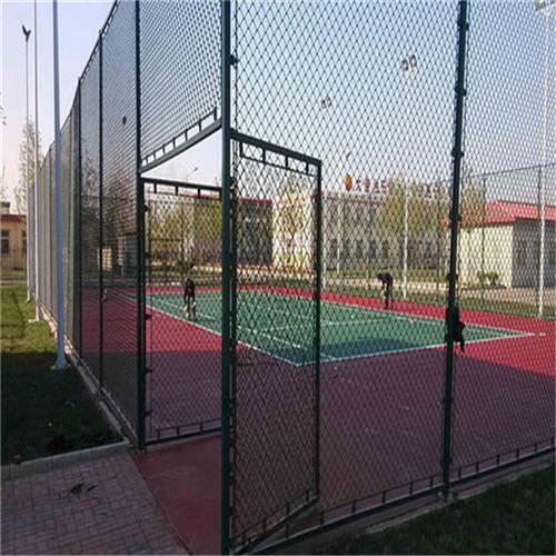 新华区达创体育篮球场PVC浸塑桂林网球场地围网