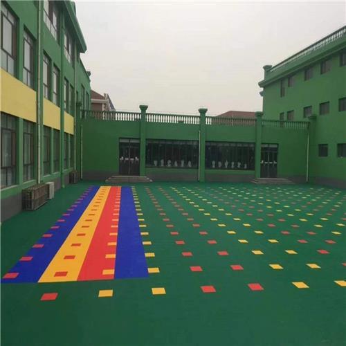 西城區達創體育器材陽臺新國標熱塑拼裝地板加工定制圖案