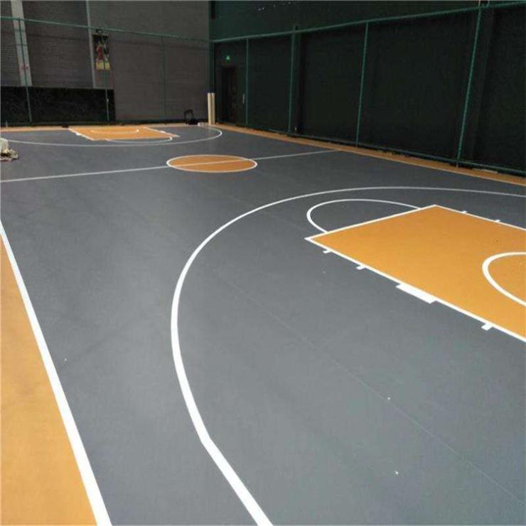 達創體育器材籃球場PVC地膠地面pvc地膠