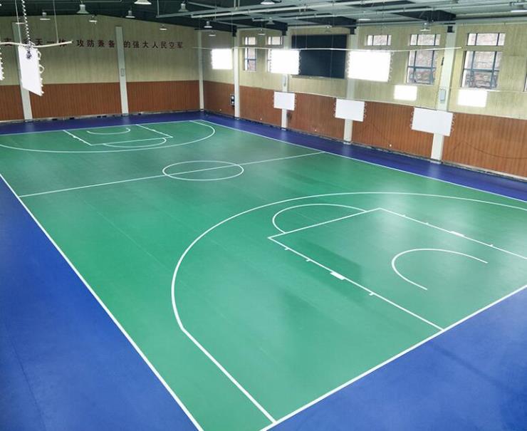 達創體育器材籃球場PVC地膠成都pvc地膠