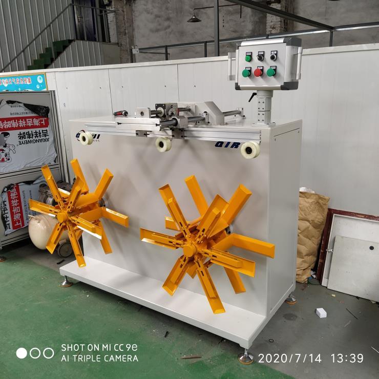 带计米器全自动精准收卷机、变频调速稳定胶管收卷机
