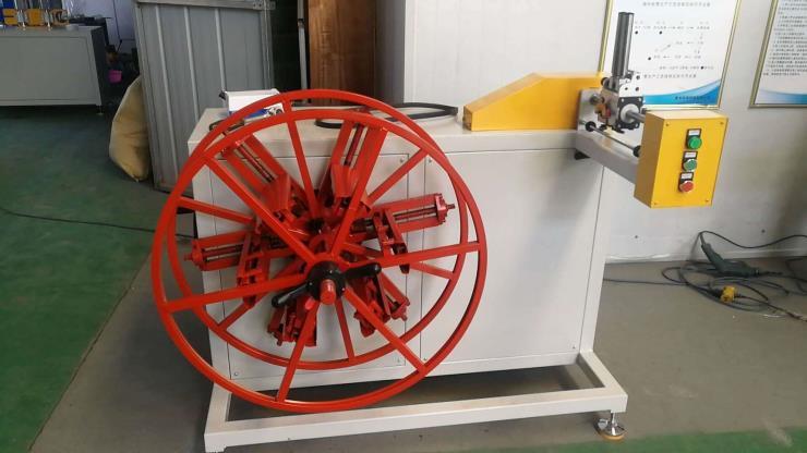 汽車用剎車管雙盤收卷機 滌綸樹脂管雙工位收卷機