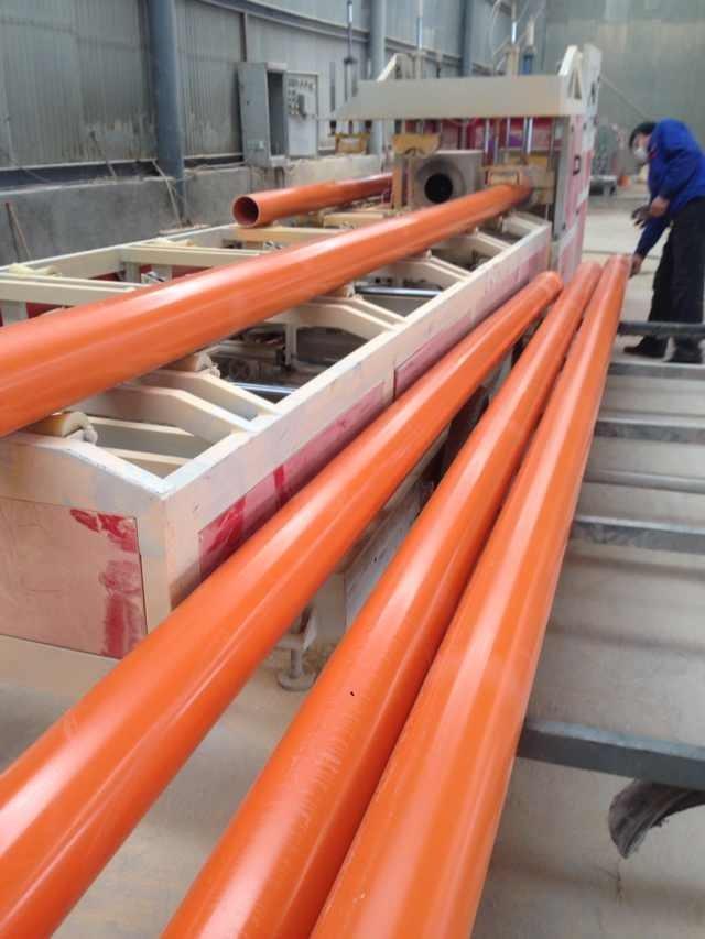 河南厂家直销cpvc电力管110橘红色电力穿线管规格