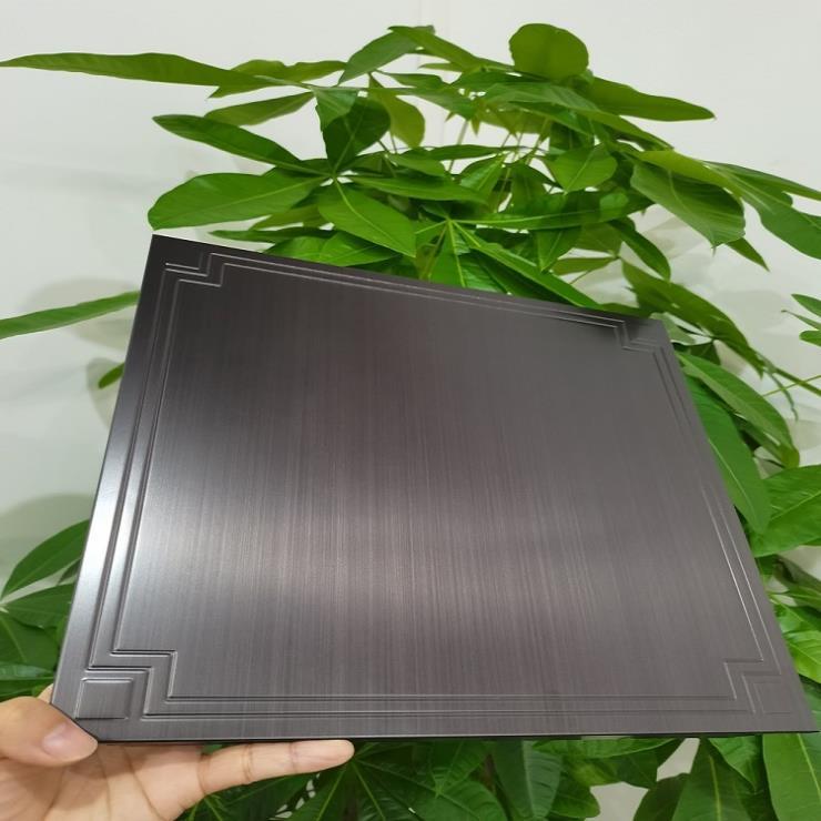 紫銅拉絲壓花扣板 不銹鋼扣板 吊頂材料 彩鋼扣板