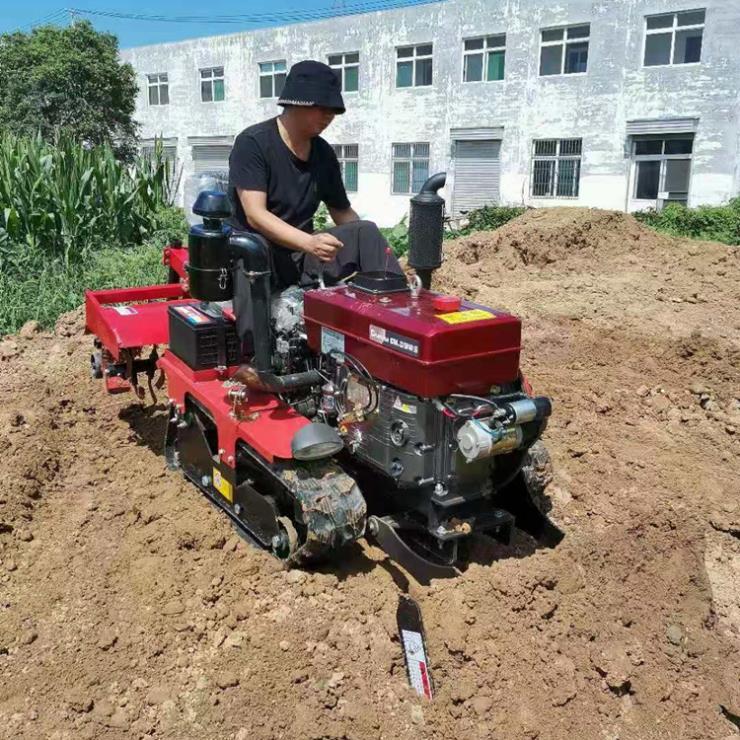 25马力小款型履带耕地机 旱地专用旋耕机