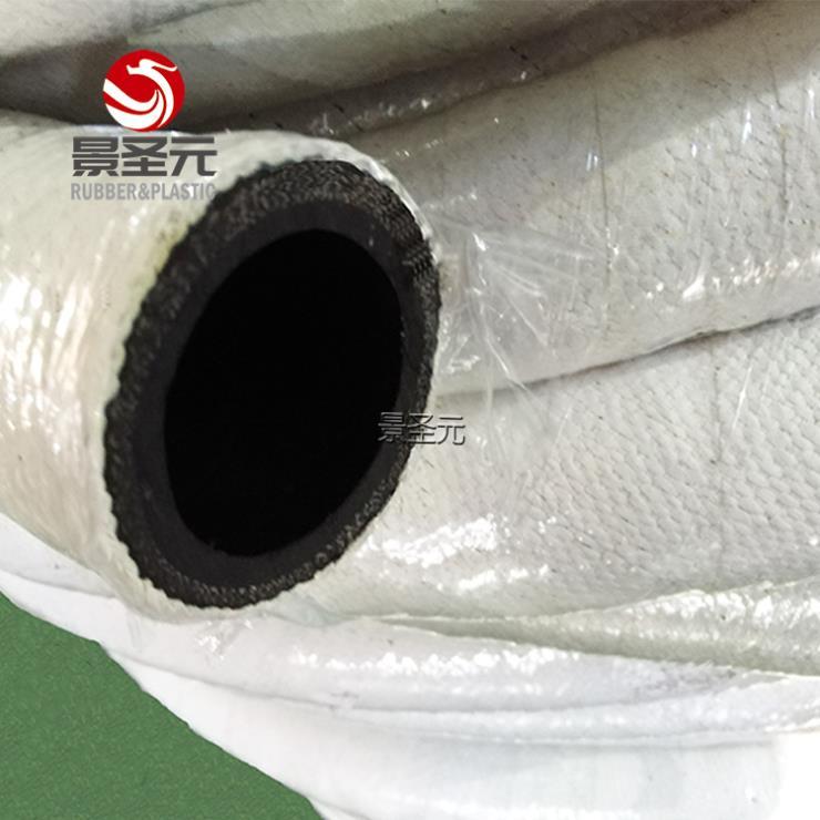 防火石棉胶管 耐高温石棉管 铠装带接头石棉输水管