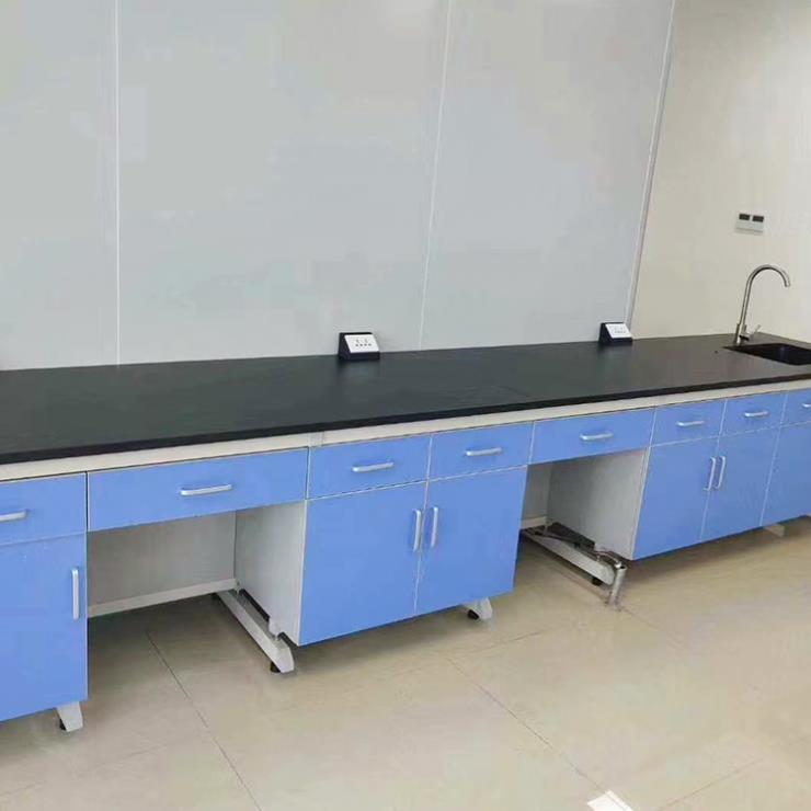 钢木实验台批发 中央台实验台 耐酸碱理化板 耐高温台