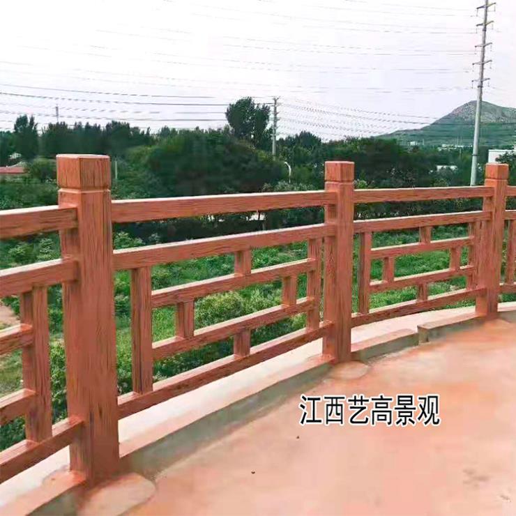 广东仿木护栏景观工程报价 广州水泥仿木栏杆厂家价格