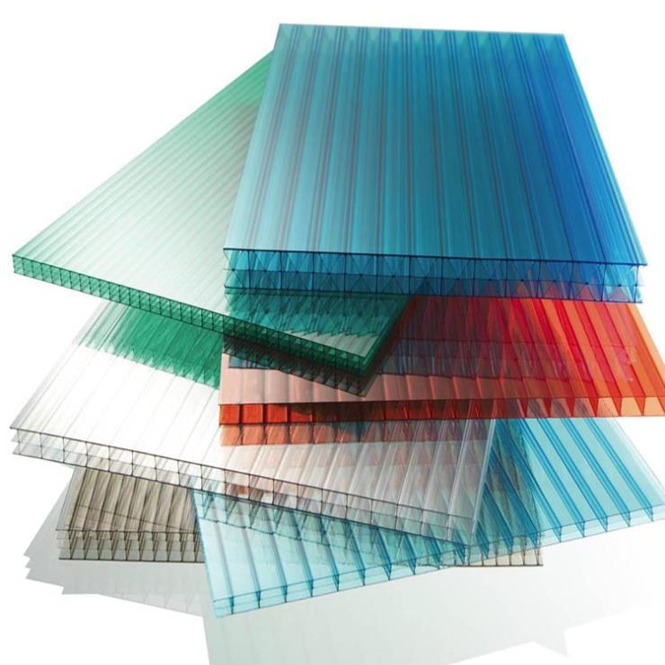 双层PC阳光板温室大棚用双层中空板透明板
