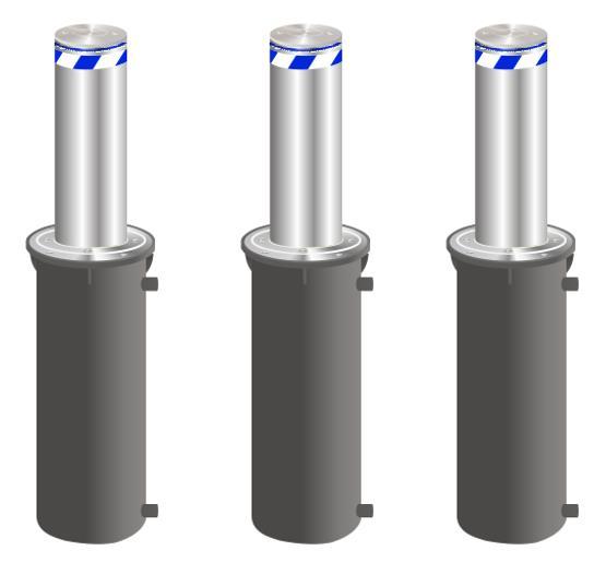 重庆全自动液压升降柱 防撞隔离柱